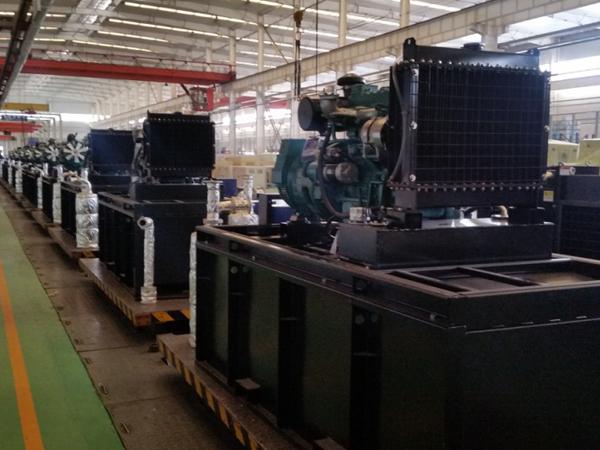 发电机组生产线
